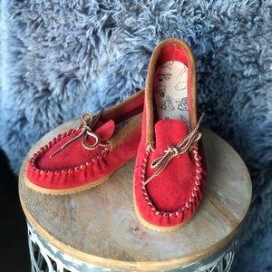AMIMOC Colourmoc moccasins - Red // size 9